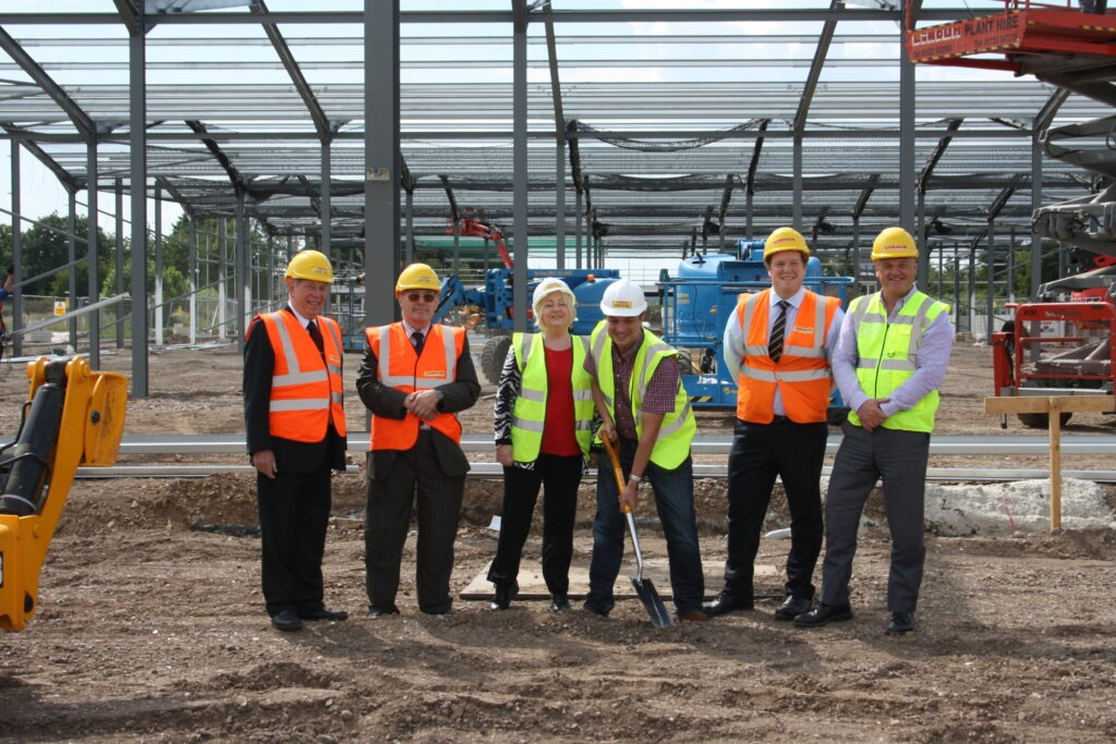 Monarch team at factory build site