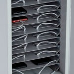 Individual steel storage compartments