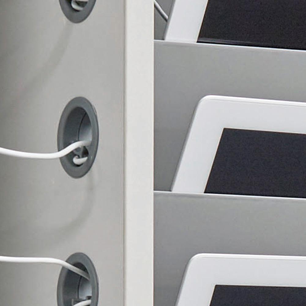 Cable clip portholes secure cables