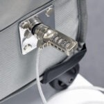 Steel cable coded lock secures GO2+ to any static object